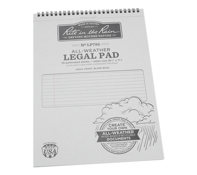 "8.5"" x 11"" All-Weather Legal Pad"