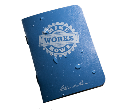 "Free mikeroweWORKS 3.25"" x 4.5""  All Weather Side Stapled Notebook"