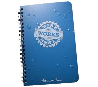 "mikeroweWORKS 5"" x 7"" All-Weather Side Spiral Notebook"