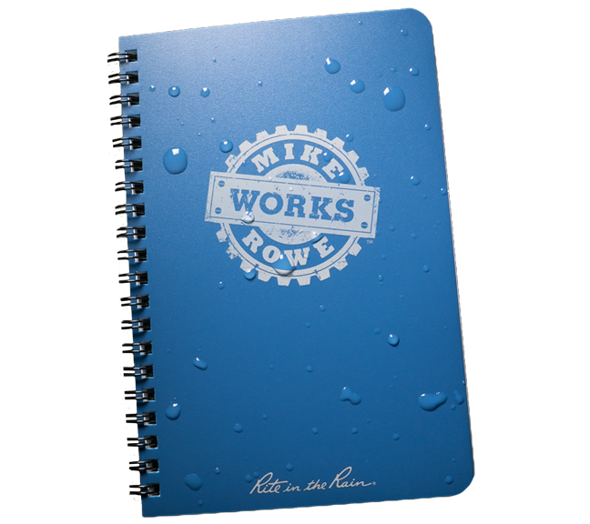 mikeroweworks 5 x 7 all weather side spiral notebook revmarkusa