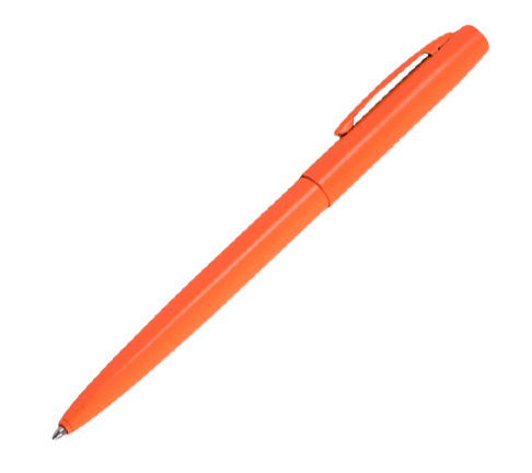 All-Weather Orange Metal Click Pen - Black Ink