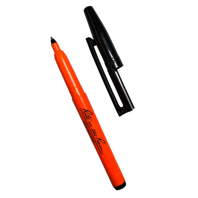All-Weather Belt Holster Pen (Orange) - Black Ink