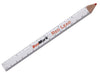 White Cedar Carpenter Pencil with RED LEAD and Ruler Imprint - 3 Pack