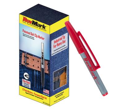 RevMark Marker - 12-Pack - Red Ink