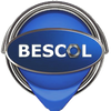 Bescol Ltd logo is a paintpot in Bescol blue with a nut as the letter 'O' to honour the origins of Bescol 'Bute Engineering Supply Company Limited'.