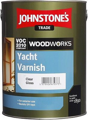 2.5 LTR JOHNSTONE`S WOODWORKS YACHT VARNISH CLEAR