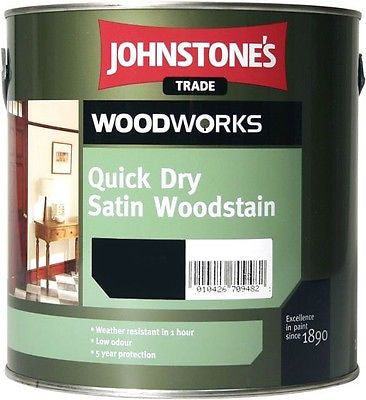 0.75LTR Johnstone's Woodworks Quick Dry Satin Woodstain