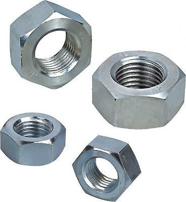 Metric Full Hex Nut Zinc Plated. Full Range of Sizes.
