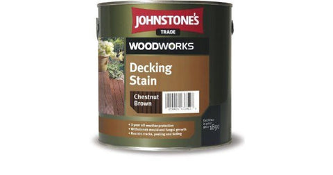 2.5LTR Johnstone's Woodwork Decking Stain