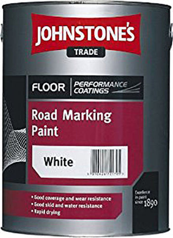 5LTR - JOHNSTONE'S ROAD MARKING PAINT WHITE