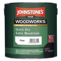 2.5 LTR Johnstone's Woodworks Quick Dry Satin Woodstain