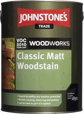 2.5LTR Johnstone's Woodworks Matt Woodstain