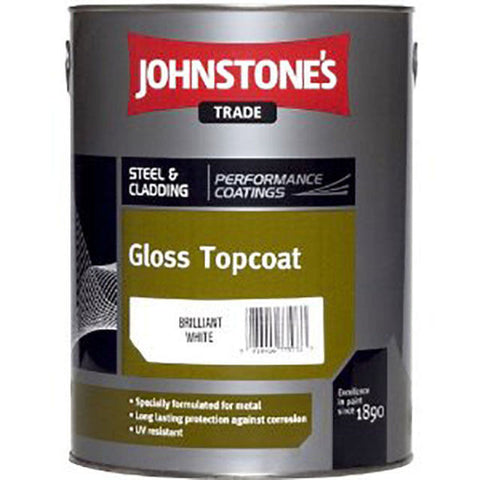 5LTR - JOHNSTONE'S GLOSS TOP COAT BRILLIANT WHITE
