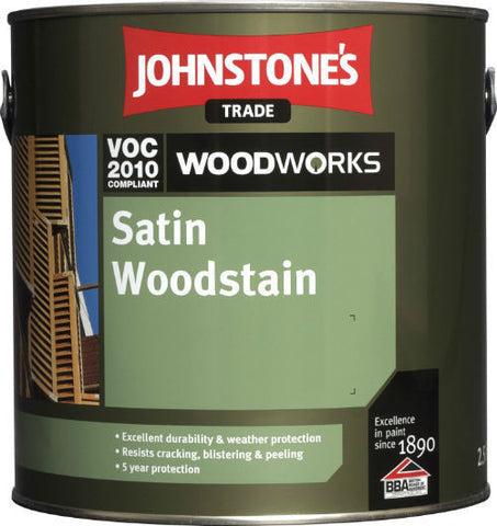 2.5 LTR Johnstone's Woodworks Satin Woodstain