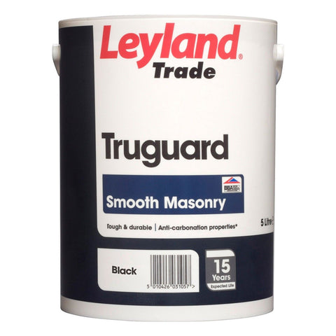 5 LTR TRUGUARD SMOOTH MASONRY PAINT BLACK