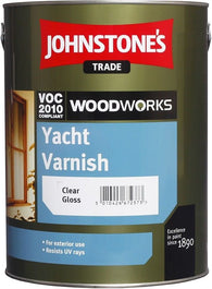 0.75 LTR JOHNSTONE'S WOODWORKS YACHT VARNISH CLEAR