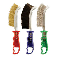 3pc Plastic Handled Scratch Brush Pack