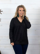 Charcoal Surplice Sweater