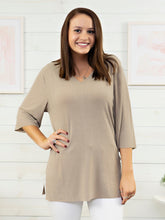 Ribbed Knit Cocoa Top