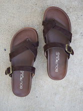 Heavenly Slide Sandals - Chocolate
