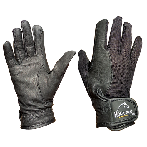 HORSE TECH LEATHER AIRFLOW GLOVES