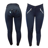 EQUILEISURE SILICONE STRIPE LADIES BREECHES