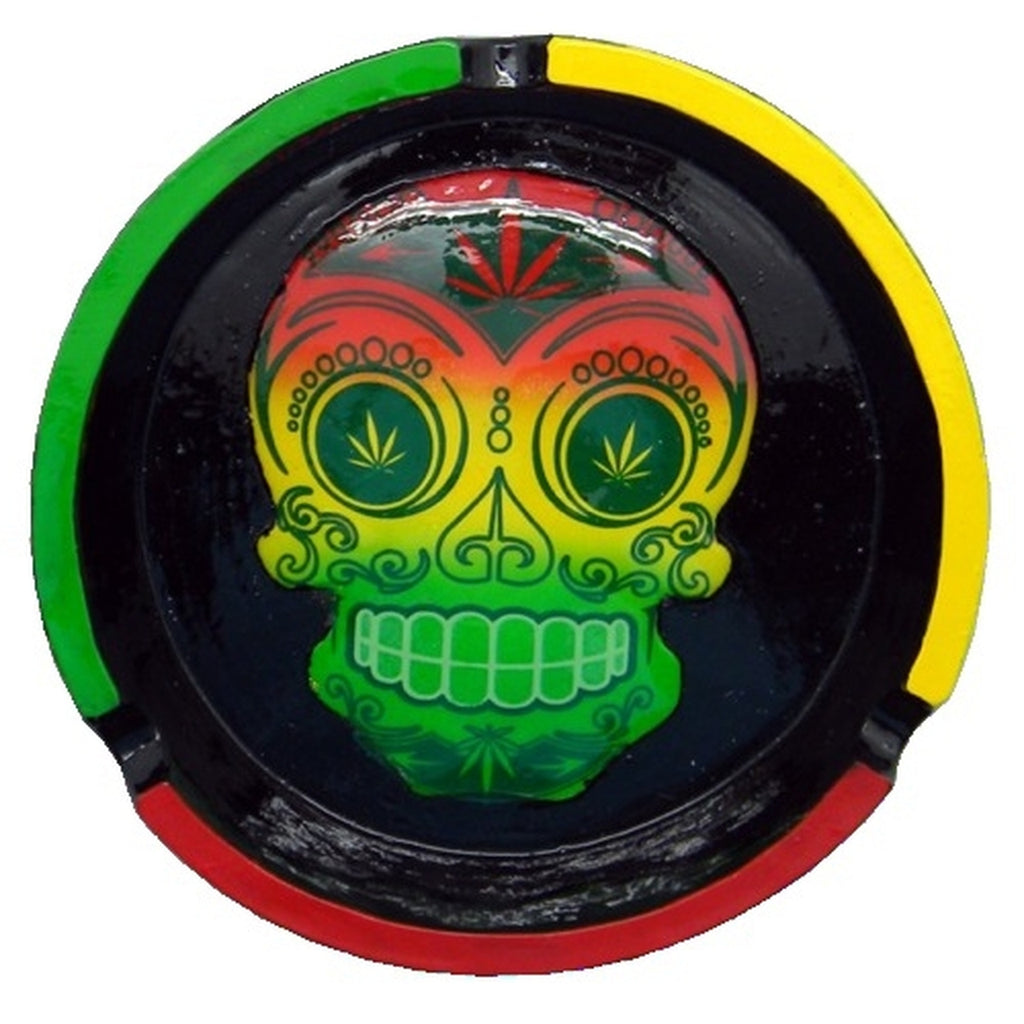 Day of the Dead Ashtray Round - Honeypot International inc.