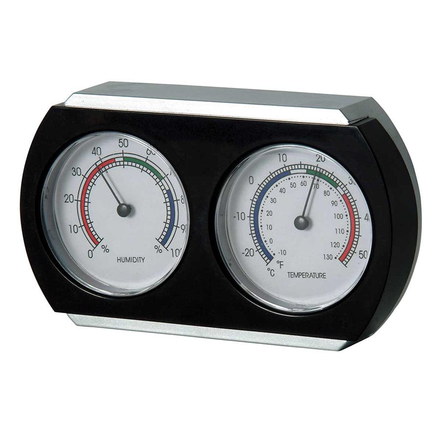INDOOR THERMOMETER & HYGROMETER - 7""