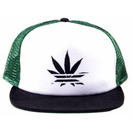 No Bad Ideas - Jay - Trucker Hat Green/Black Leaf