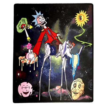 Rick Sanchez Trippy Dab Mat - Honeypot International inc.