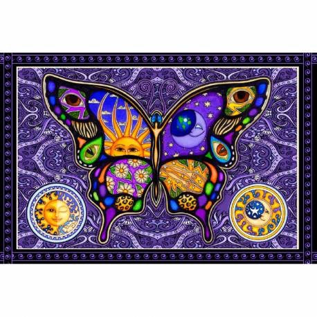"60"" x 90"" Single Tapestry - Dan Morris - Butterfly"