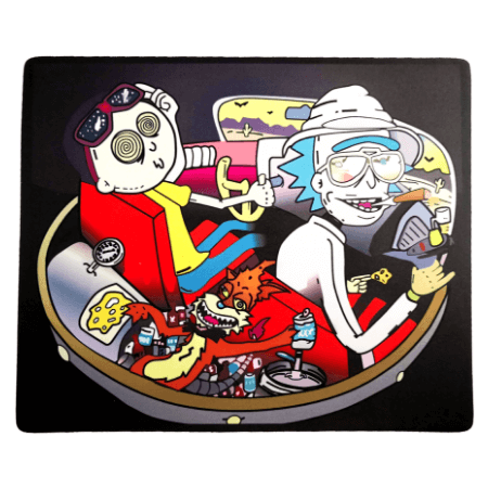 Rick And Morty Fear And Loathing Dab Mat - Honeypot International inc.