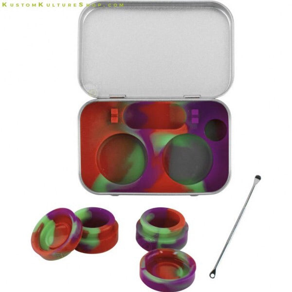 Silicone Dab Kit With Metal Case - Honeypot International inc.
