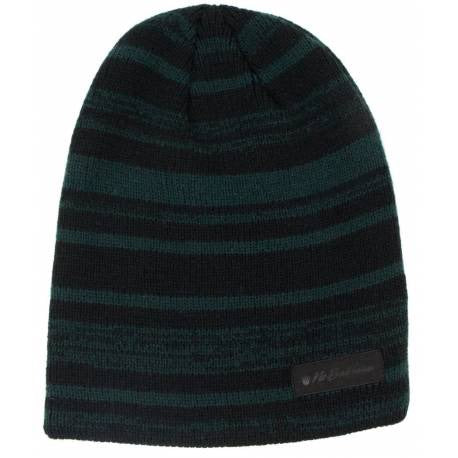 No Bad Ideas Knit - Hawk - Knit Striped Beanie - Black and Green