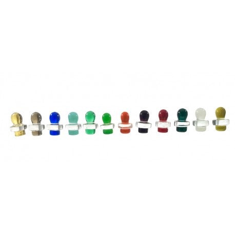 Glass Carb Cap - Coloured Ball - Honeypot International inc.