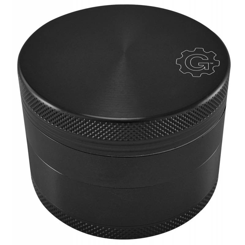 Grindhouse 2.5 Inch 4-Piece Aluminum Pollinator w/ Solid Top - Black - Honeypot International inc.