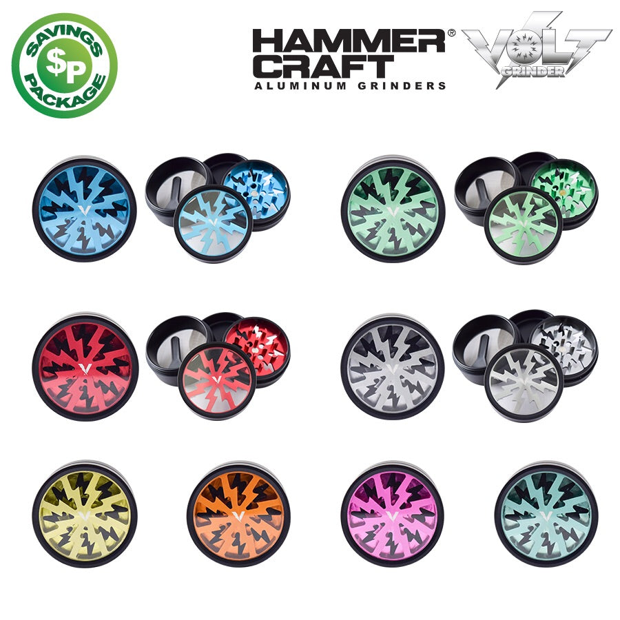 "Hammercraft Volt 4pc 2"" Grinder - Honeypot International inc."