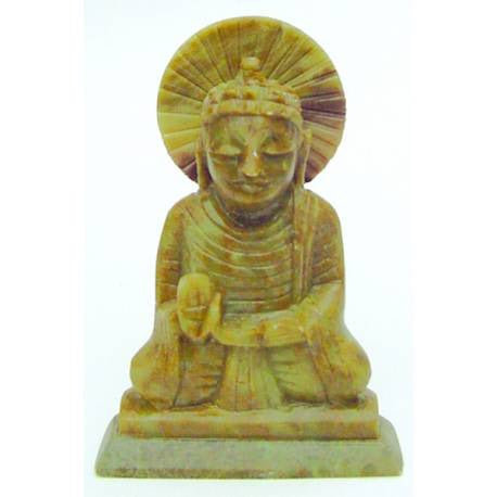 "4"" Soapstone Seated Buddha - Honeypot International inc."