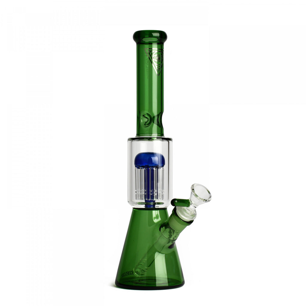 "Red Eye Glass 11"" Dual Chamber Beaker"
