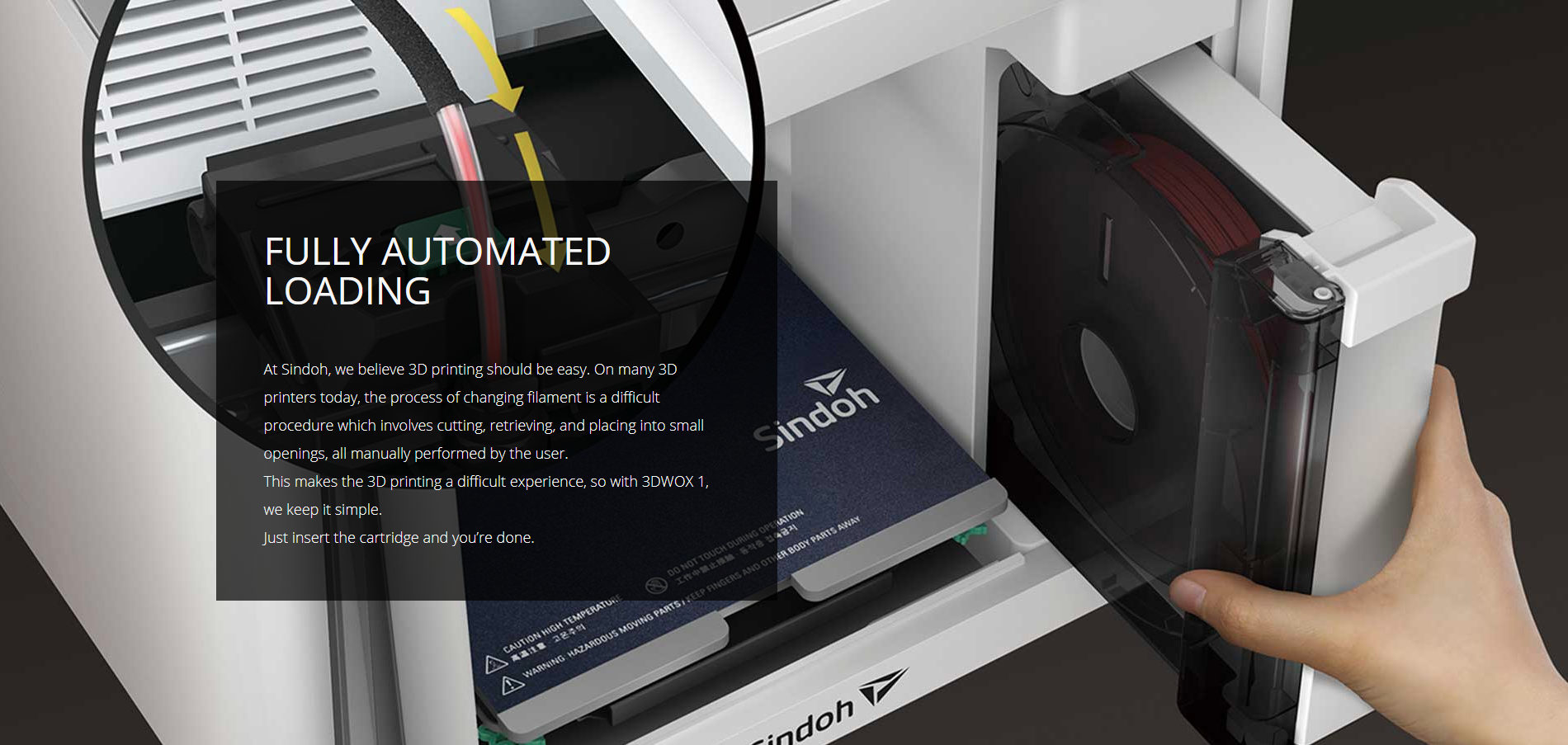 Sindoh 3DWOX 1 3D Printer wow3dprinter