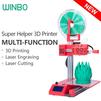 Super Helper SH155L Multi-function(3 in 1) 3D Printer, Laser Engraver & Cutting
