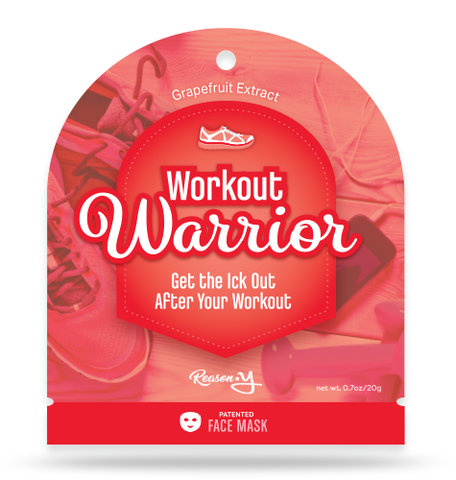Workout Warrior toning face mask front