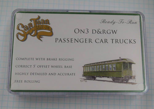 San Juan Car Co. D&RGW Passenger Car Trucks