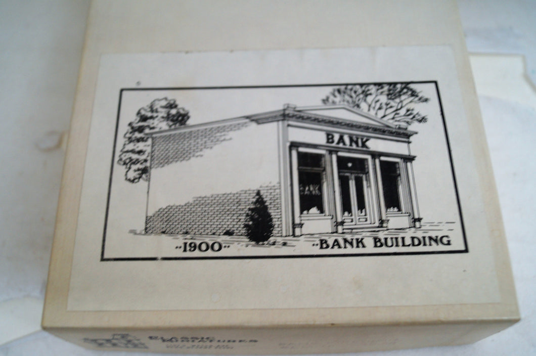 Ho Classic Miniatures Bank Building Kit