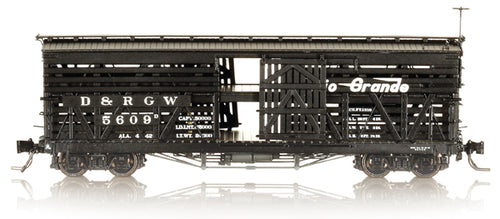 Blackstone Hon3 D&RGW 5500 Series Double Deck Stock Cars