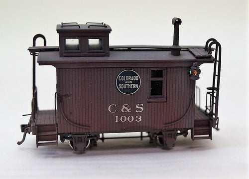 Hon3 Brass Pacific Fast Mail C&S Caboose