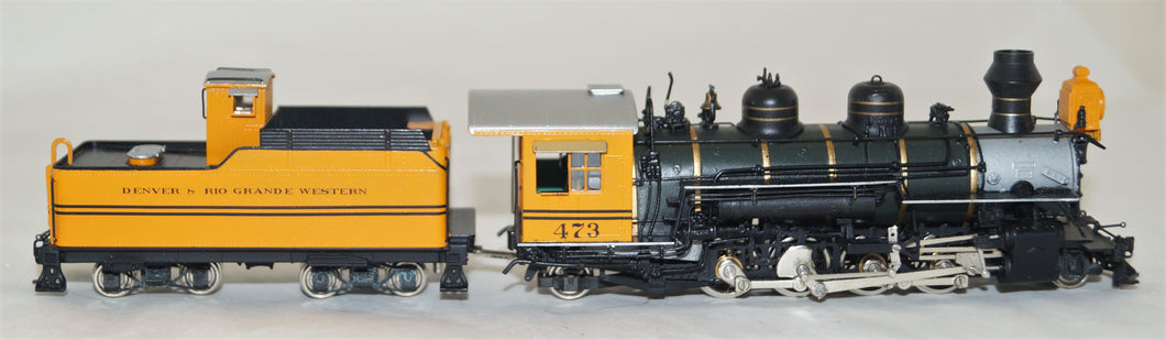 Hon3 Brass Sunset Models D&RGW 2-8-2 K-28 Bumble Bee #473