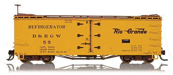 Blackstone Hon3 D&RGW 30ft refrigerator Cars
