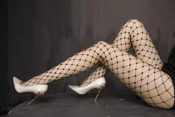 Pearl Fishnet Tights