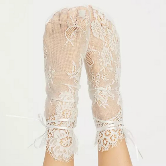 White Lace Socks, Lace Socks for Women, Tulle Socks, Sheer Socks, Fashion Socks, Gifts for Her, Wedding Socks, White Socks, Trendy Socks